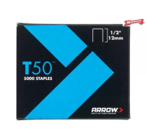 Arrow T50 Staples 12mm-1/2inch (Pack 5000)