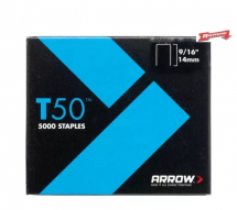 Arrow T50 Staples 14mm - 9/16inch (Pack 5000)