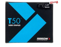 Arrow T50 Staples 6mm-1/4inch (Pack 5000)