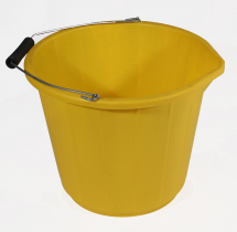 PVC Builders Bucket HD Yellow