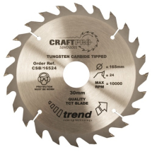 165mm x 24T x 20mm Bore Thin Trend Craft Pro Blade (DCS391)
