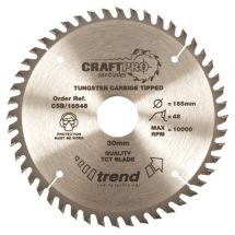 165mm x 48T x 30mm Bore Trend Craft Pro Blade