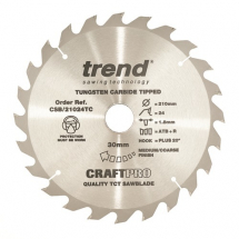 210mm x 24T x 30mm Bore Trend Craft Pro Blade