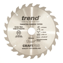 184mm x 24T x 16mm Bore Trend Pro Cross Cut Blade (DCS365)