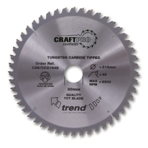 255mm x 42T x 30mm Bore Trend Craft Pro Cross Cut Blade