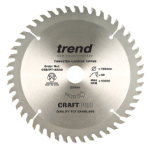 165mm x 48T x 20mm Bore Trend Panel Trim Craft Pro Blade