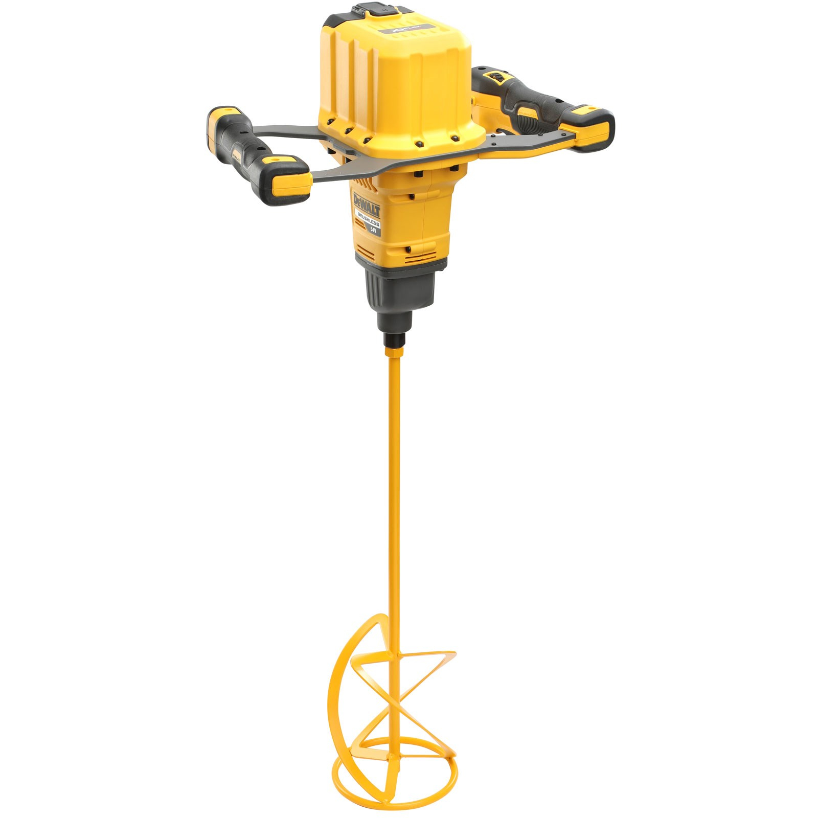 Dewalt 54v Brushless Paddle Mixer c/w 2 x 9.0Ah Batts