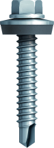 5.5x25 Stainless Steel Tek Screw c/w Washer (Box 100)